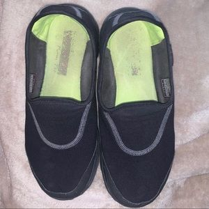 Black Sketchers Go Walk Impress Memory Foam  Shoes